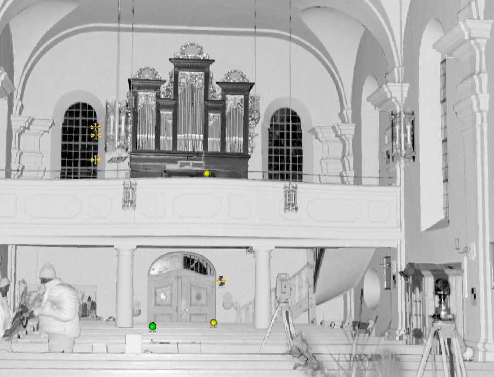 Punktwolkenmodell Innenraum Kirche